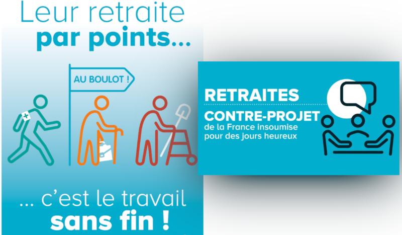 Le projet de réforme des retraites proposé par les députés de la France Insoumise .