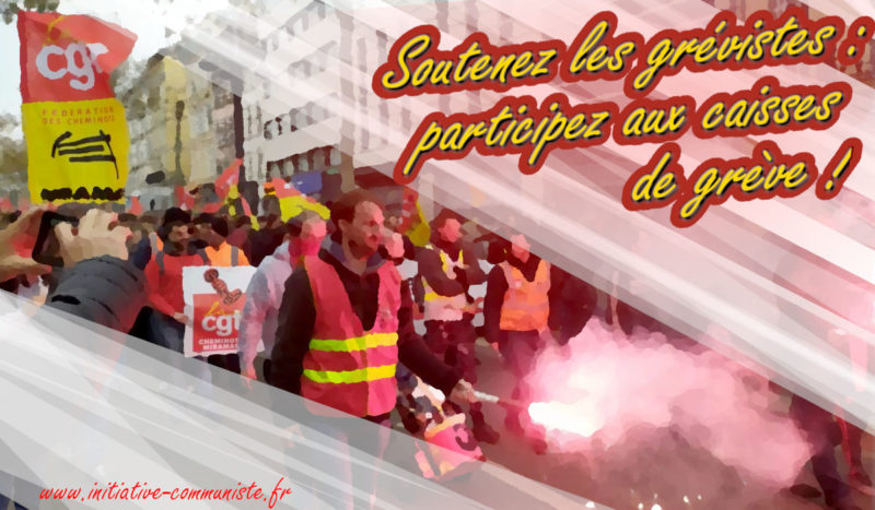Soutenez les grévistes : participez aux caisses de grèves !