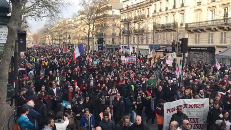 Démonstration qu'Occurrence et la police divisent par 3 ou 4 le nombre de manifestants  #grève17décembre #350000àParis