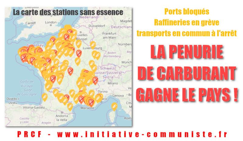 Vers la pénurie d'essence : Ports bloqués, raffineries en grève – la grève générale est lancée jusqu'au retrait de la #réformedesretraites
