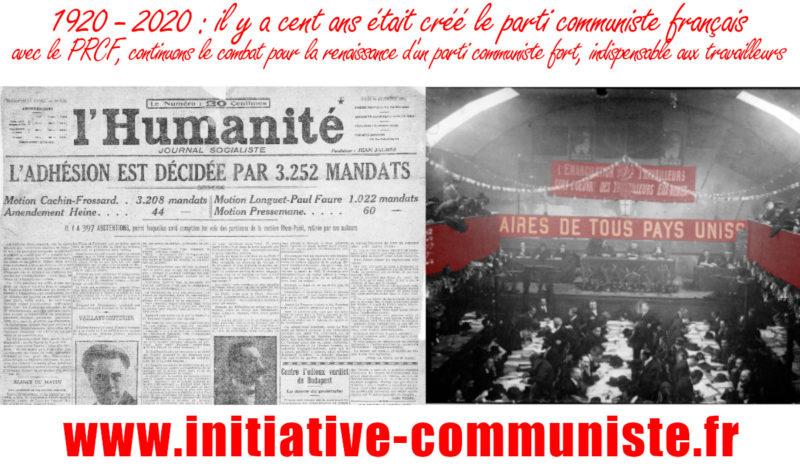 100 ans du congrès de Tours : les célébrer dans une perspective d'avenir – par Georges Gastaud #vidéo
