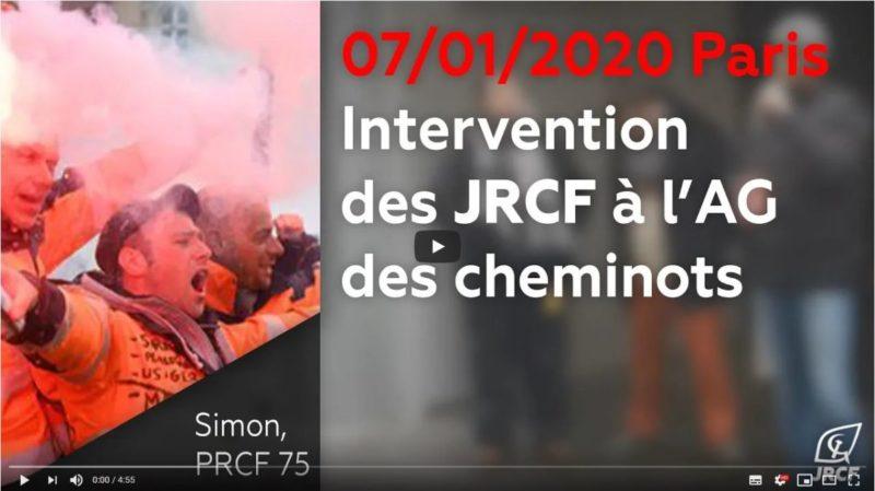 """""""Cette grève est héroïque"""" les JRCF soutiennent les cheminots à l'AG d'Austerlitz #fierdelagrève"""
