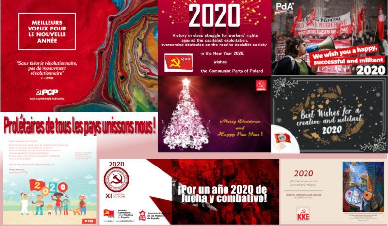 2020 : le PRCF remercie les partis communistes du monde entier et s'associe à leurs vœux !