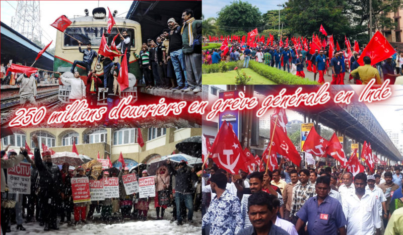 Les travailleurs indiens ripostent : 250 millions sont en grève générale !