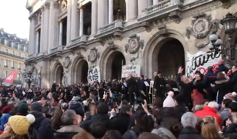 Lutte dans la culture, culture dans la lutte : les artistes en grève de l'Opéra de Paris rendent à la Marseillaise toute sa signification révolutionnaire !