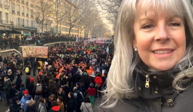 """Retraites :""""Macron fait ce que veut le patronat et l'Union Européenne"""". Gilda Landini répond à la presse italienne #vidéo"""