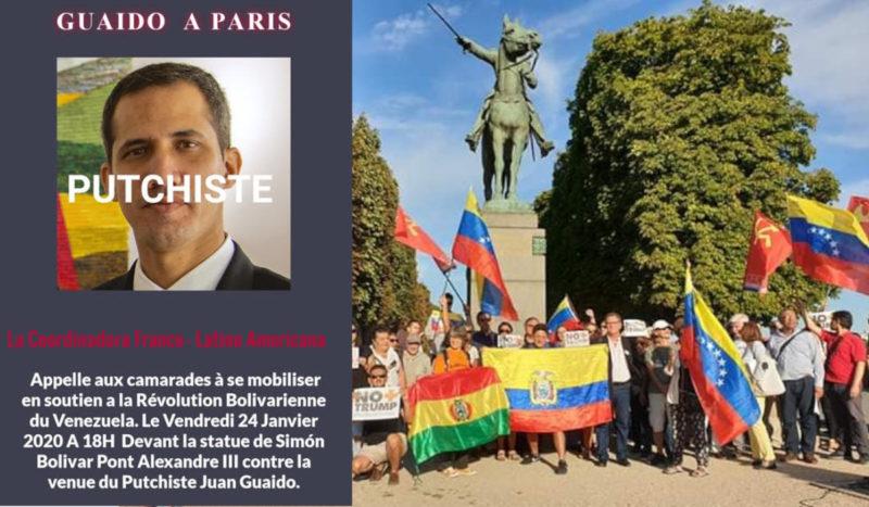 LE « DÉMOCRATE » AUTOPROCLAMÉ MACRON SOUTIENT LE PUTSCHISTE GUAIDO DE PASSAGE À PARIS (PRCF)
