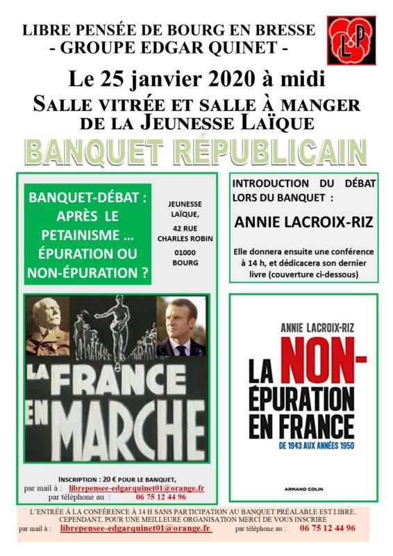 Après le pétainisme, la non épuration. débat à Bourg en Bresse avec A Lacroix-Riz [25/01]