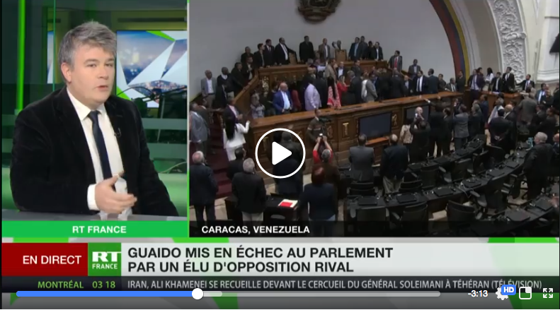 Venezuela : le putschiste Guaido chassé de la présidence du parlement par ses collègues de l'opposition .