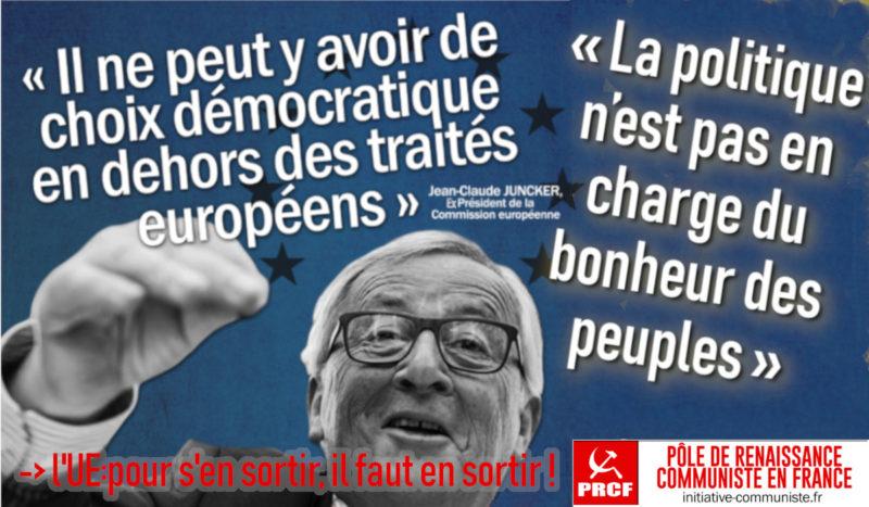 Egoïsme de l'oligarchie corrompue ou bonheur des peuples, il faut (définitivement) choisir ! Quand Juncker passe aux aveux .
