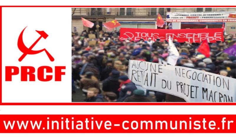 Conférence de financement des retraites : refuser le piège, impulser la contre offensive #PRCF #reformedesretraites