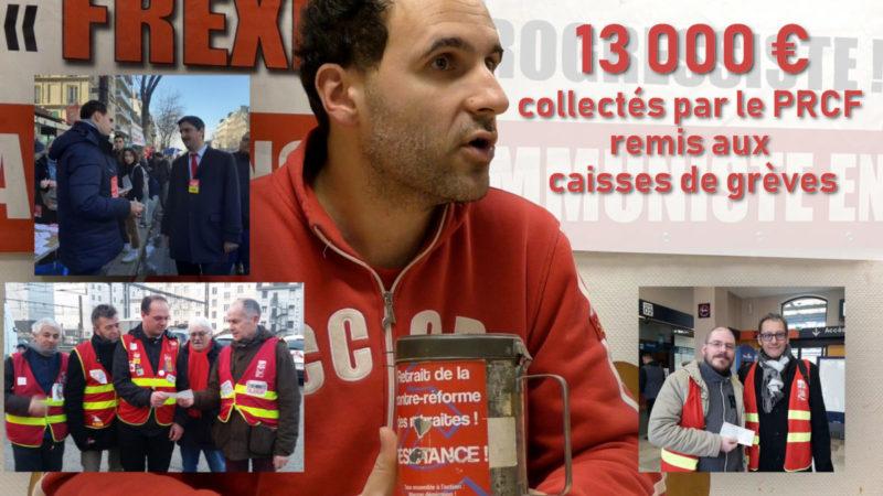Le PRCF soutient les grévistes : 13 000 € remis aux caisses de grève pour le retrait de la #RetraitesParPoints