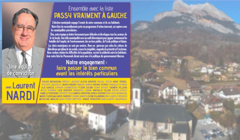La liste conduite par notre camarade Laurent Nardi obtient 16% à Passy (74).
