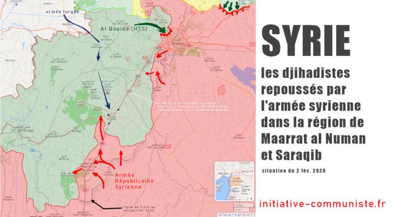 Syrie : l'armée syrienne remporte plusieurs victoires contre les djihadistes islamistes soutenus par la Turquie.