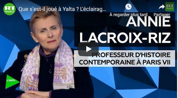 Que s'est il joué à Yalta ? par Annie Lacroix-Riz