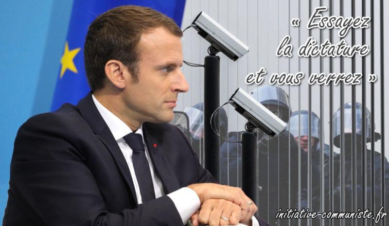 """Ordonnances, état d'urgence : le parlement liquidé, les """"pulsions totalitaires """" de la Macronie confirmées !"""