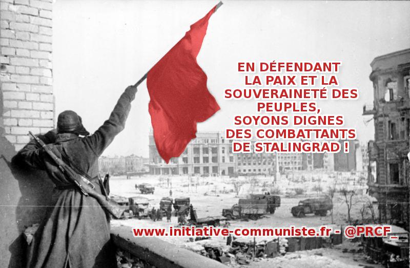 2 février 1943, victoire de l'Armée rouge à Stalingrad contre le nazisme !