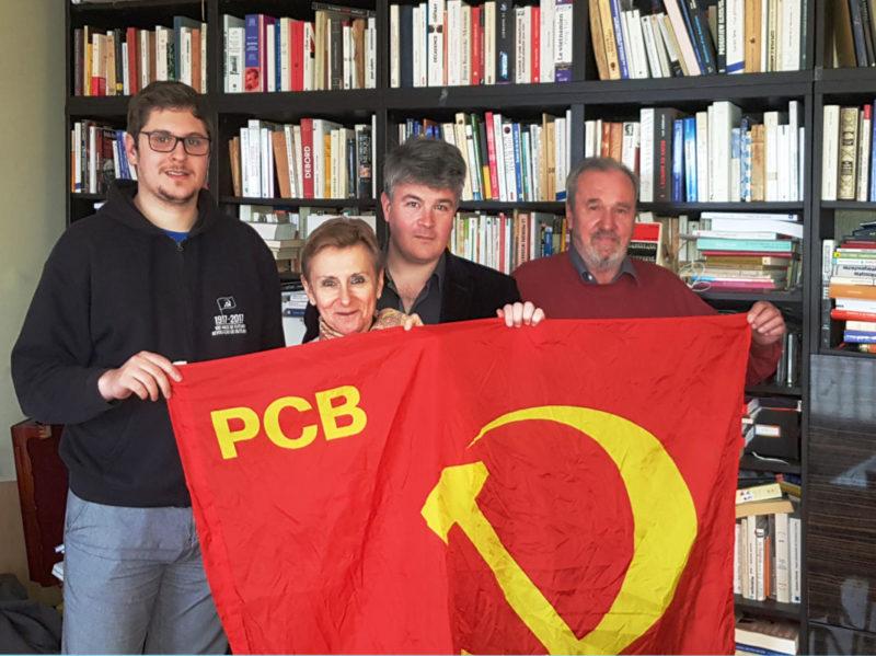 """Rencontre du Parti Communiste de Belgique et du PRCF : """"solidarité avec les travailleurs de nos pays dans leur combat pour la sauvegarde des conquis sociaux et des retraites, contre la criminalisation des mouvements sociaux et syndicaux""""."""