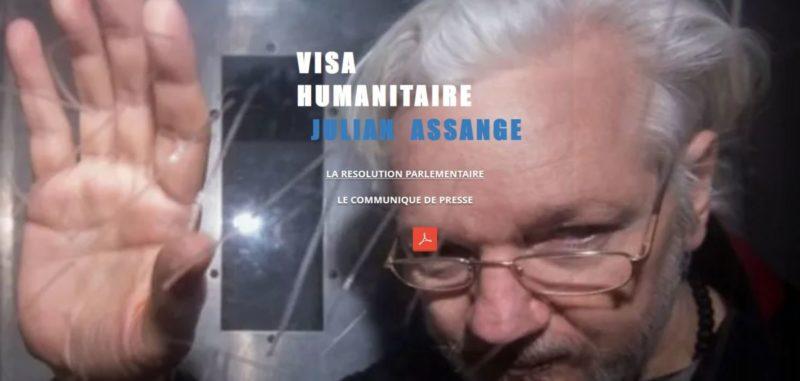 Un visa humanitaire pour Assange : la résolution votée à Genève.