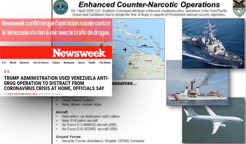 Newsweek confirme que l'opération navale contre le Venezuela n'a rien à voir avec le trafic de drogue.