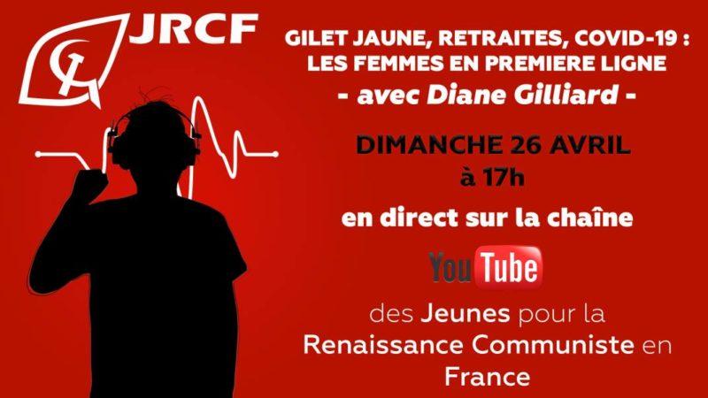 Gilet Jaune, Retraites, Covid-19 : Les femmes en première ligne – rdv en ligne à 17H le 26/04