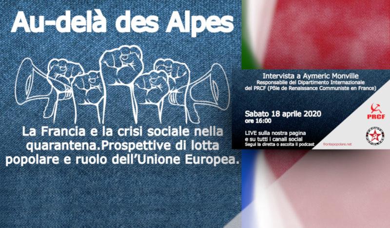 """Débat franco-italien en ligne ce samedi à 16h """"Perspective de lutte populaire et rôle de l'Union Européenne"""" ."""