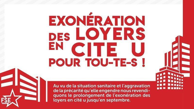 Pétition : pour l'exonération des loyers en cité-U pour tous !