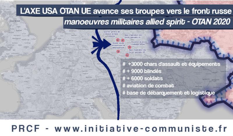L'Axe USA-OTAN-UE avance ses troupes vers le front russe avec ses manœuvres Allied Spirit !