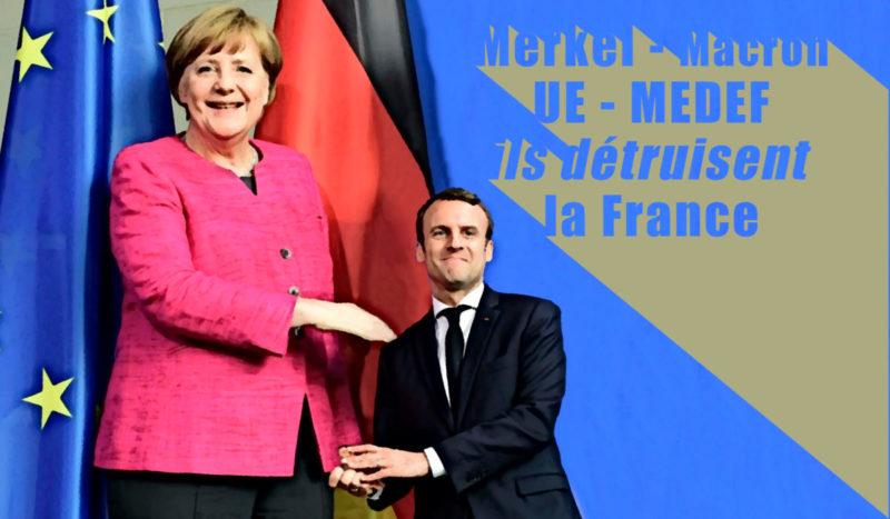EMPRUNT EUROPEEN: un nouveau cadeau empoisonné fait à Marianne par le couple Merkel/Macron.