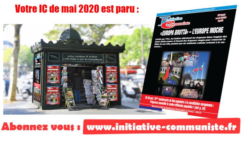Achetez le dernier numéro d'Initiative Communiste – IC n°216 – mai 2020