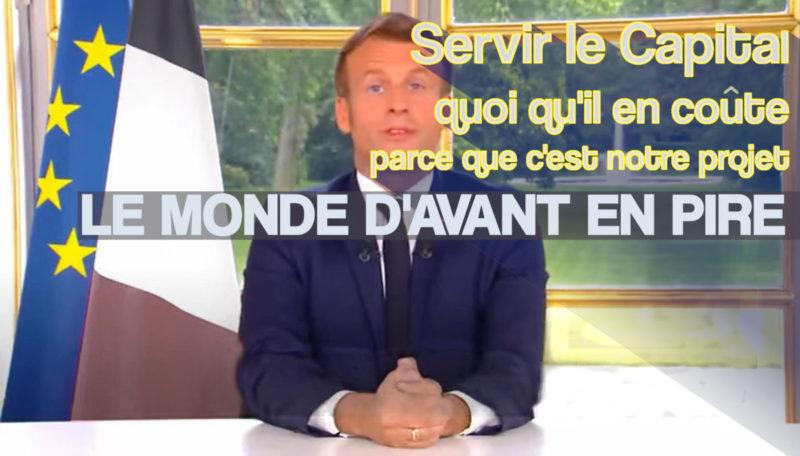 « nouvel acte » de son quinquennat ? Macron l'illusionniste appelle à revenir au « Monde d'Avant »… en pire ! #Macron20h
