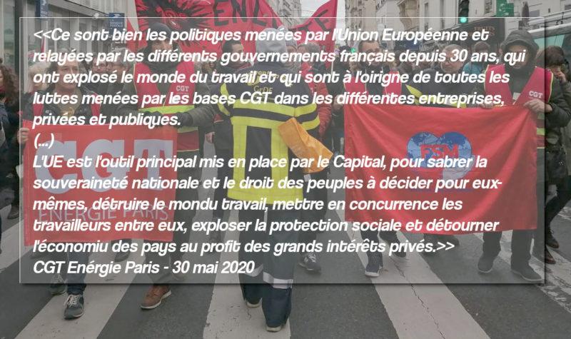 La CGT énergie Paris réplique au texte européiste honteux signé par Berger, Martinez et par les syndicats allemands.