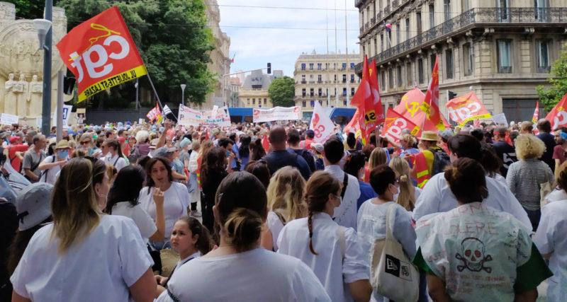 16 juin 2020 : Par centaines de milliers mobilisés pour les #soignants et l'hôpital public attaqués par l'euro austérité. Retour en image sur les manifestations.