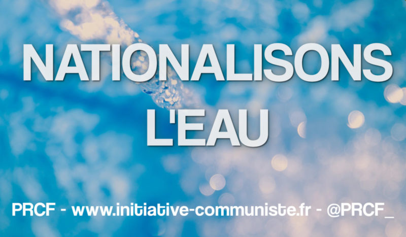 Nationaliser l'eau !