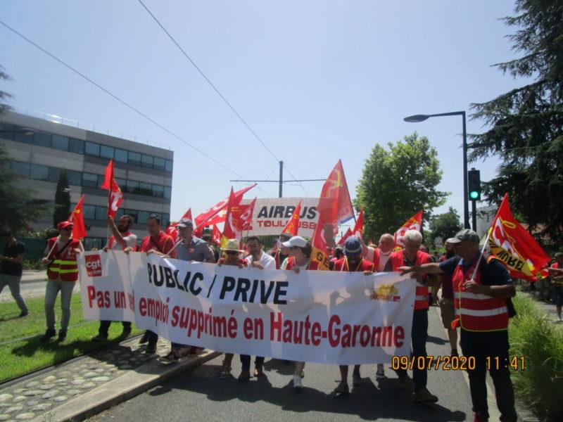À Toulouse, le PRCF 31 mobilisé pour sauver l'industrie avec les Airbus !