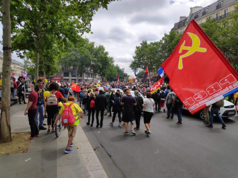 14 juillet 2020 : le PRCF au cœur des luttes parisiennes.