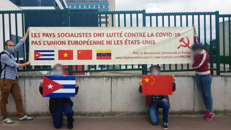 Hommage aux pays socialistes dans la lutte contre la Covid-19 – une action du PRCF 94.