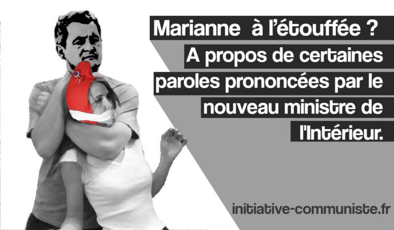 Marianne  à l'étouffée ?  À  propos de certaines paroles prononcées par le nouveau ministre de l'Intérieur.