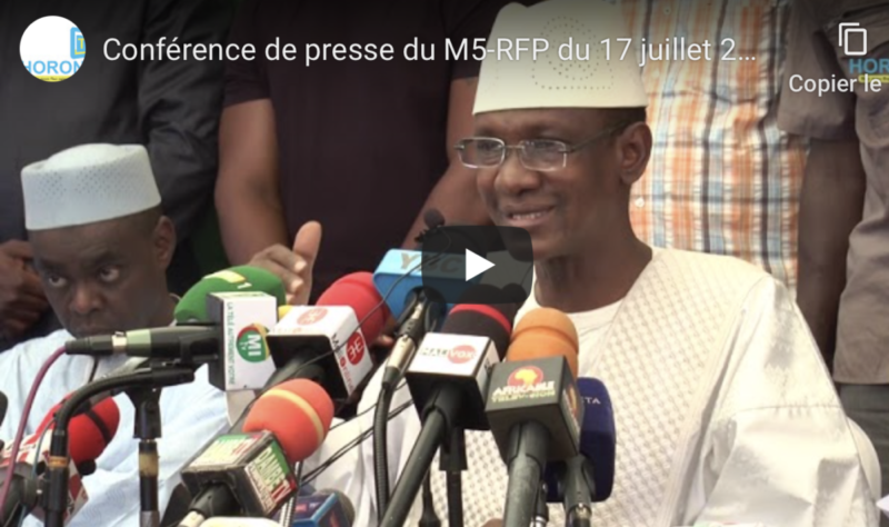 Retour sur la situation au MALI, suite à la répression barbare du régime IBK contre la peuple malien, condamnée par le #Parti SADI et le #M5-RFP – 20 juillet 2020