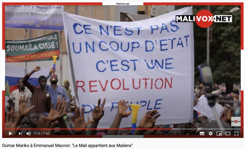 """Le président du SADI et membre du M5-RFP Oumar Mariko à Emmanuel Macron : """"Le Mali appartient aux Maliens"""" !"""