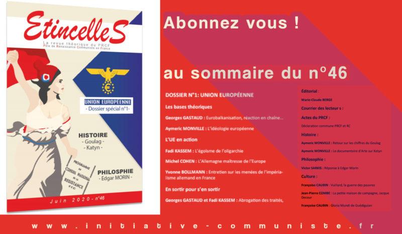 """Étincelles n°46 dossier spécial """"Union Européenne""""."""