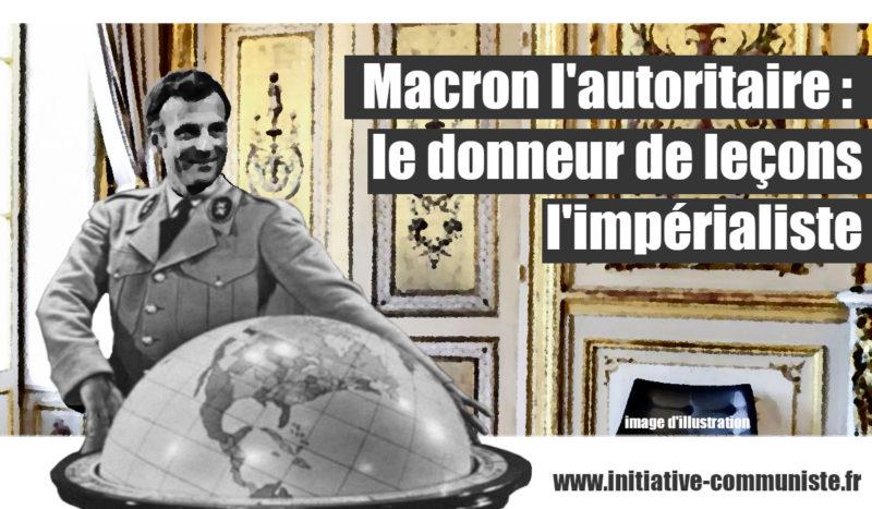 Macron l'autoritaire, le donneur de leçons, l'impérialiste ! #Liban #Bielorussie