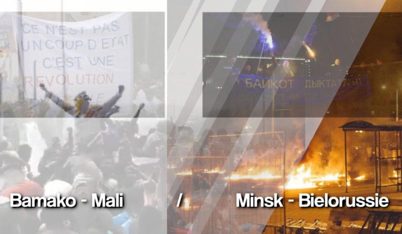 """Le Mali et la Biélorussie, symptôme de la """"démocratie"""" à géométrie variable."""