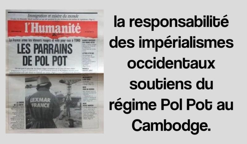 La mort de Duch n'efface pas la responsabilité des impérialismes occidentaux soutiens du régime Pol Pot au Cambodge !