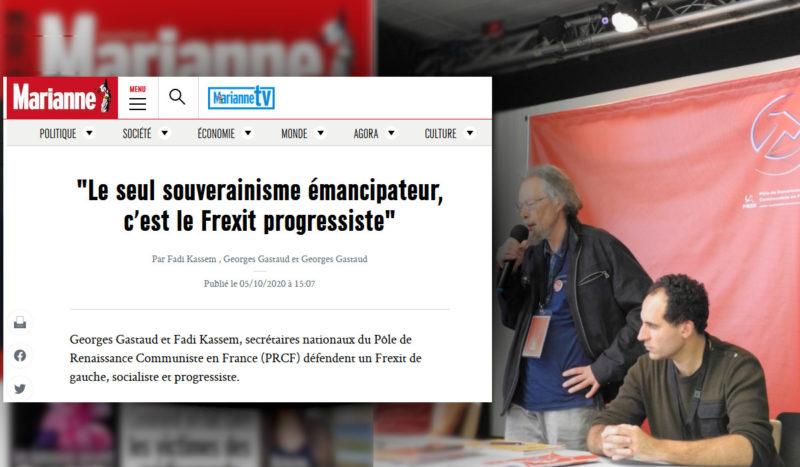 """""""Le seul souverainisme émancipateur, c'est le Frexit progressiste"""" une tribune de Fadi Kassem et Georges Gastaud  à lire dans Marianne !"""