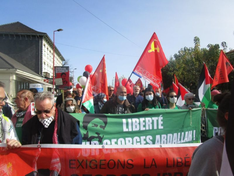 Le PRCF présent à Lannemezan pour exiger la libération de Georges Ibrahim Abdallah, plus vieux prisonnier politique de France.