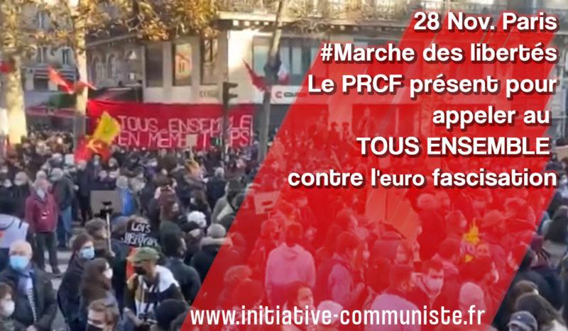 Énormes manifestations pour le retrait de la loi sécurité globale et contre les violences policières : A. Monville (PRCF) répond aux questions de RT international.