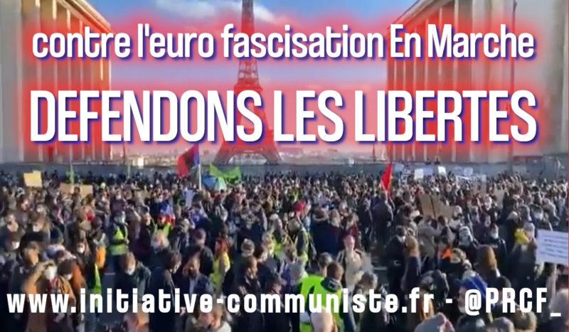 Tous à la #Marchedeslibertés, ensemble contre l'eurofascisation #StopLoiGlobale #violencespolicières