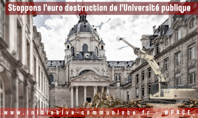 La LPR démolit deux institutions fondamentales de l'Université !