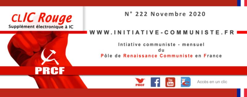 CLIC Rouge 222 – votre supplément électronique gratuit à Initiative Communiste [novembre 2020] …